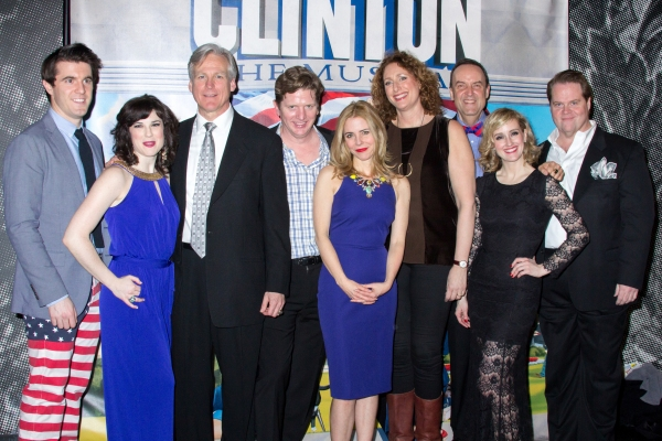 Full Company of Clinton the Musical on Opening Night