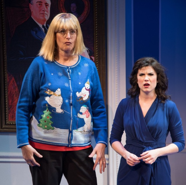 Judy Gold as Linda Tripp and Veronica J. Kuehn as Monica Lewinsky