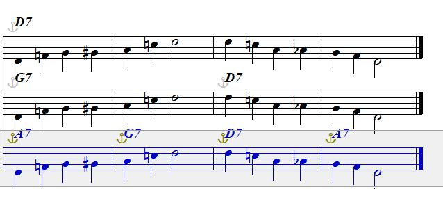 Blues in D